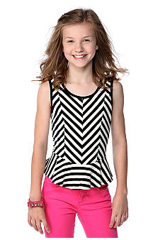 DKNY Stripe Peplum Tank Girls 7-16