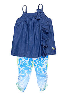 DKNY Island Print Legging Set Girls 4-6X