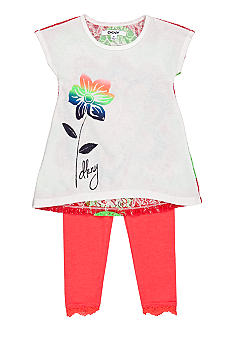 DKNY Rainbow Tunic Set Girls 4-6X