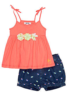 DKNY Island Ikat Printed Short Set Girls 4-6X