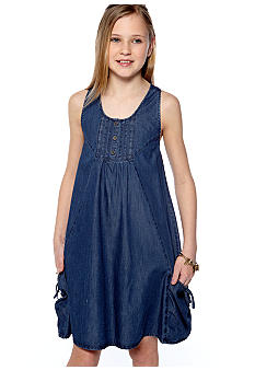DKNY Reef Denim Dress Girls 7-16