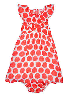DKNY Viscose Printed Dots Dress Girls 4-6X