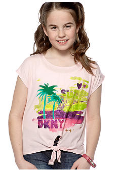 DKNY Sunshine Tie Front Top Girls 7-16