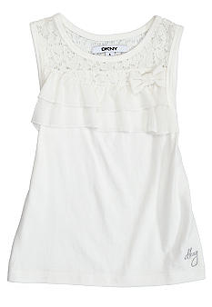DKNY Lace Ruffle Top Girls 4-6X