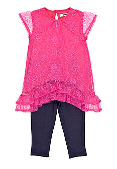 DKNY Becca Lace Dress Set Girls 4-6X