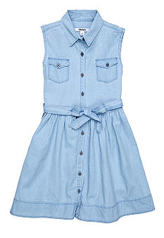 DKNY Leslie Chambray Dress Girls 7-16