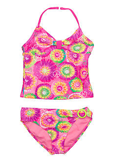 Angel Beach Funhouse Tankini Set Girls 7-16