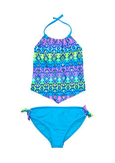 Angel Beach 2-Piece Gypset Foil Printed Tankini Girls 7-16