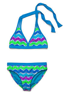 Angel Beach 2-Piece Cracked Chevron Bikini Girls 7-16