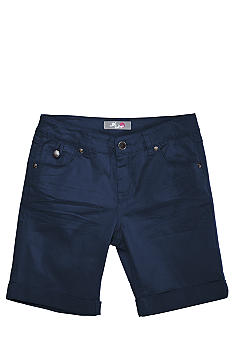 J Khaki Cuffed Flap Pocket Twill Bermuda Girls 7-16