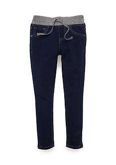 JK Indigo Glitter Waist Knit Jeans Girls 4-6x