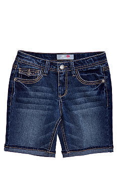 JK Indigo Flap Pocket Denim Bermuda Girls 7-16
