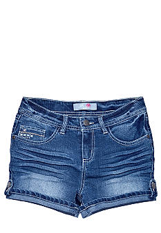 J Khaki Denim Cuff Shorts Girls 7-16