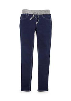 JK Indigo Glitter Waist Knit Jeans Girls 7-16