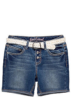 Red Camel Girls Denim shorts with lace belt Girls 7-16