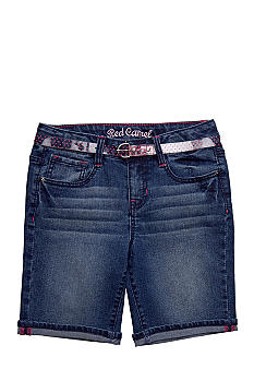 Red Camel Girls Denim Belted Bermuda Girls 7-16