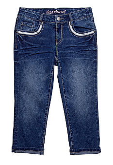 Red Camel Girls Shine Pockets Denim Capri Girls 7-16