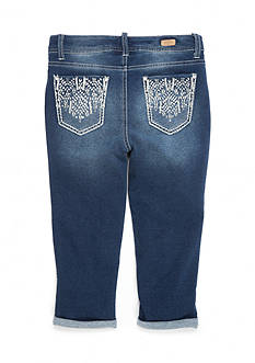 Red Camel Tribal Pocket Cuffed Crop Jeans Girls 7-16