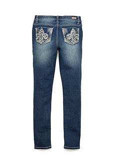 Fleur De Lis Skinny Jeans Girls 7-16