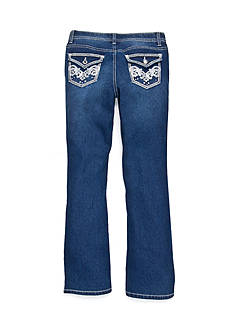 Red Camel Skinny Bootcut Glitter Pocket Jeans Girls 7-16