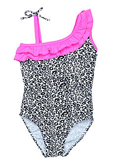 J Khaki Cheetah One Piece Girls 4-6X