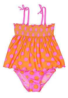J Khaki 2-Piece Polka Dot Swimsuit Girls 4-6X