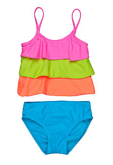 J Khaki Tiered Two Piece Girls 4-6X