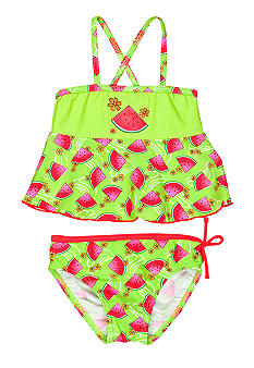 J Khaki 2-Piece Watermelon Swimsuit Girls 4-6X