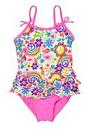 J Khaki™ 1-Piece Floral Swimsuit Toddler Girls