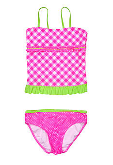 J Khaki 2 Piece Swim Suit Girls 7-16