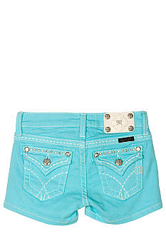 Miss Me Girls Stitch Flap Pocket Color Short Girls 7-16