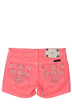 Miss Me Girls Bedazzled Cross Color Short Girls 7-16