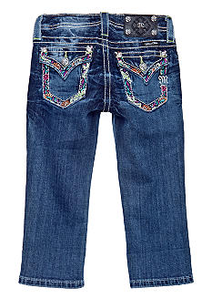 Miss Me Girls Embroidered Flap Pocket Cuffed Capri Girls 7-16