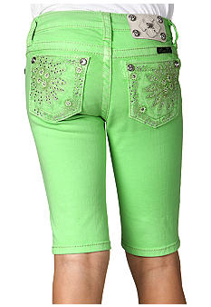 Miss Me Girls Daisy Pocket Neon Bermuda Girls 7-16