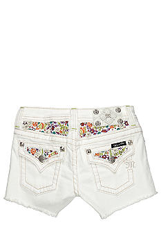 Miss Me Girls Floral Flap Pocket Denim Short Girls 7-16