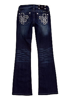 Miss Me Girls Fleur De Lis Bedazzled Boot cut Jean Girls 7-16