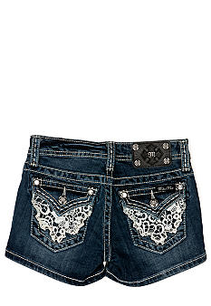 Miss Me Girls Short Lace Flap Pocket Girls 7-16