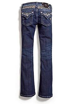 Miss Me Girls Checkered Bling Bootcut Jeans Girls 7-16