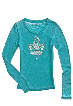 Miss Me Girls Thermal Fleur Tee Girls 7-16