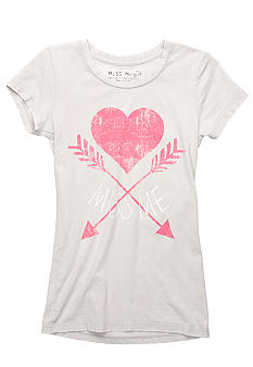 Miss Me Girls Miss Me Arrow Heart Tee Girls 7-16
