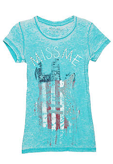 Miss Me Girls American Guitar Logo Tee Girls 7-16