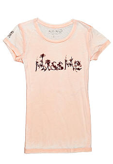 Miss Me Girls Palm Tree Logo Tee Girls 7-16