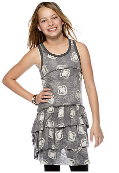 Miss Me Girls Tiered Beaded Tunic Girls 7-16