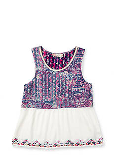 Miss Me Girls Printed Tribal Tank Top Girls 7-16