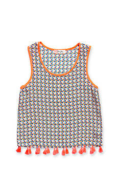 Miss Me Girls Geo Print Tassel Tank Top Girls 7-16