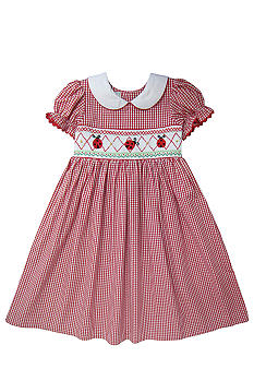 Marmellata Ladybug Smocked Dress Girls 4-6X
