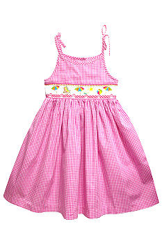 Marmellata Beach Scene Smock Sundress  Girls 4-6X