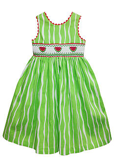 Marmellata Watermelon Smock Sundress Girls 4-6X