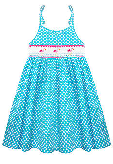 Marmellata Flamingo Smock Sundress Girls 4-6X