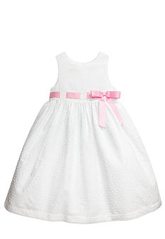 Marmellata Swiss Dot Ribbon Dress Girls 4-6X